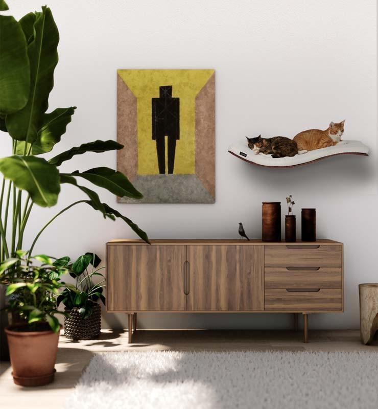 Arbre à chat mural design pour chat