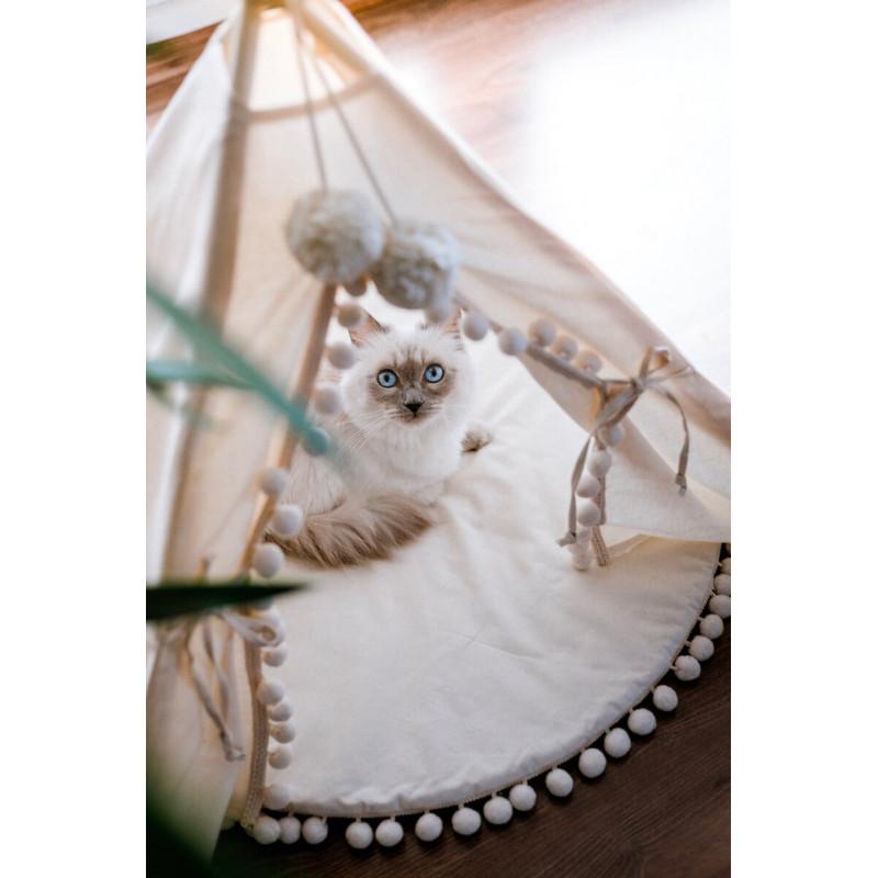 Tipi design pour chat fait à la main et très cosy